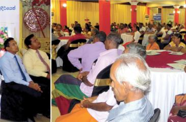 Commercial Bank Assistant General Manager, Personal Banking, Delakshan Hettiarachchi, addressing the audience. (Below): A section of the audience