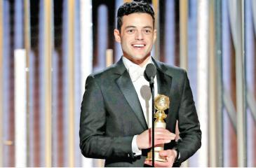A beaming Malek won Best Actor for his role in the movie