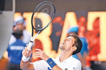 Serbia's Novak Djokovic celebrates his victory (AFP)