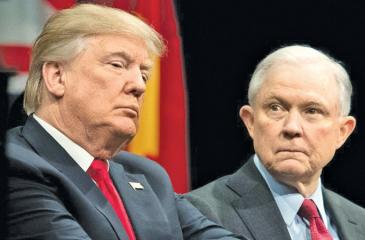 Some people in Attorney General Jeff Session's home state were hesitant to condemn comments attributed to President Trump in a new book about White House infighting.   Pic. Tom Brenner / TNY / Redux
