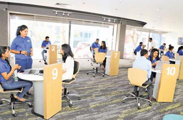 The refurbished customer care centre in Colombo 2.
