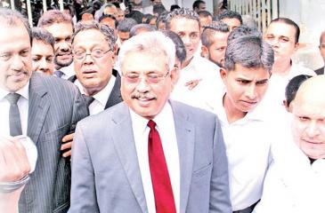 Former defence secretary Gotabhaya Rajapaksa seen outside Colombo Permanent High Court at Bar.