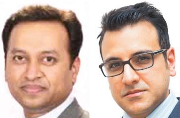 MTI's Bangalore based Director of MTI Sri Lanka, Subash Bidare and MTI's Dubai based Associate and Financial Services Specialist, Naush Beg