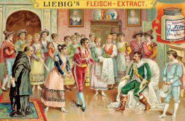 Wolfgang Amadeus Mozart Opera Nozze of Figaro (Marriage of Figaro) Illustration to Act 1