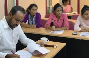 The CA Sri Lanka speech craft program in progress.