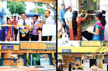 The opening of the BOC Paranthan and Vaddukodai branches.