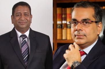 Left: Dimuthu Sanjaya Abeyesekera. Right: Murtaza Jafferjee
