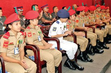 A presentation  conducted by the Training Branch at NCC HQ