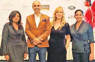 From left: EVP Sales at Serenia Residences, Latika Alok, President, Colombo Fashion Week, Ajay Vir Singh, Executive Director, Serenia Residences, Sabina Karunanayake and Colombo Fashion Week Director and CEO Fazeena Rajabdeen.