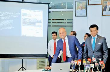 Minister Ratnayake at the launch of the SLPA website