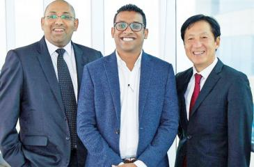 TAD Group founding Directors (from left): Dhanuka Samarasinghe, Atheeq Ansar and Toshiaki Tanaka.
