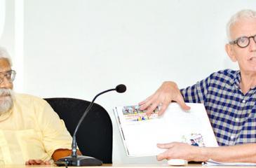 Ranjith Perera (L) and Steve Crawshaw (R) at the launch