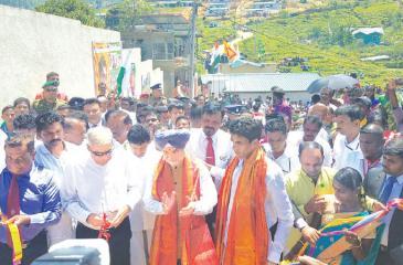 Prime Minister Ranil Wickremesinghe and the High  Commissioner of India to Sri Lanka , Taranjit Singh Sandu on occasion