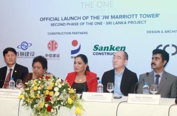 The head table at the media briefing.  Pic: Chaminda Niroshana