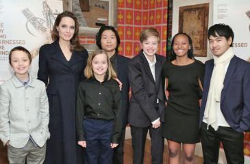 """The actress and her children attended a premiere of the film """"The Boy Who Harnessed the Wind"""" in New York."""