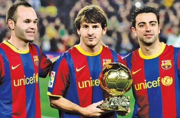 Andres, Lionel and Xavi