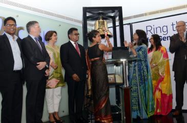 From left: Director, Global Compact Network Sri Lanka, Rathika de Silva, Acting Australian High Commissioner to Sri Lanka and the Maldives, Jon Philp, Country Manager for IFC Sri Lanka and Maldives, Amena Arif, Chairman, Securities and Exchange Commission of Sri Lanka, Ranel T. Wijesinha, Marine Biologist Asha de Vos, the only Sri Lankan to be included in the BBC's 100 inspiring and influential women for 2018, CEO, Nations Trust Bank, Renuka Fernando, Chairman, Colombo Stock Exchange, Ray Abeywardane, CEO,