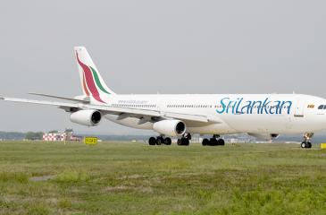 Sri Lankan Airlines which has accumulated losses running into US$1 billion and a negative net worth, continues to operate; with funding from state banks.  Pic: Courtesy Airlives.net