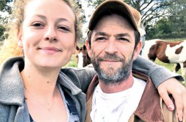 Luke Perry and his daughter, Sophie