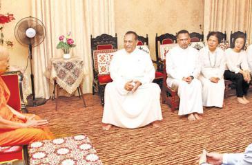 Speaker Jayasuriya receives the honorary title Sasana Keerthi Sri Deshabhimani, in Kandy