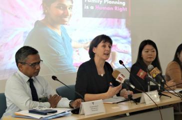 From (L) Dr. Sanjeewa Godakanda, Beth Schlacter, Ritsu Nacken and Dr. Janaki Vidanapathirana