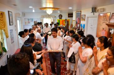 The start of the Thripitakabhivandana Week at Maryland Buddhist Temple, March 16, 2019