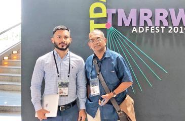 Executive Creative Director Rohan Piyadasa and Client Service Manager Manik Amirthanayagam.