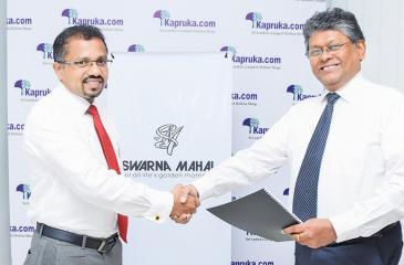 Exchange of agreement between CEO, Swarnamahal, Dinesh Fernando and CEO/ Director, Kapruka, Lalith C. Perera.