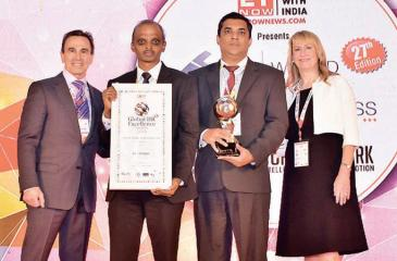 BOC officials with the award