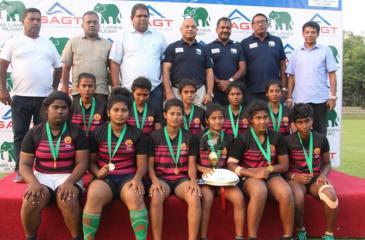 The winning North Western 'B' (Wayamba) squad on the podium comprising Sachinthani Ariyawansa (captain), Himasha Ratnayake, Lakshika Appuhamy, Probodani Dissanayake, Nirmala Priyadharshani, Dilki Sandana, Hashani Dassanayake, Lakshani Mallawa, Nemesha Sewwandi, Nuwanthika Chandrasiri and Sewwandi Munasinghe