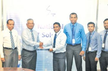ICC and SLT officials at the signing of the agreement. From left: From ICC - Engineer Prasanna Alahakoon, Director Vajira Nagodavithana, CEO Namal Peiris. From SLT - Chief Sales and Regional Officer Imantha Wijekoon, General Manager Chethana Attanayake, Business Development Manager, Kelum Priyantha, Marketing Officer Sameera Ekanayake and Senior Executive Assistant Manager, Chithra Wijesooriya.
