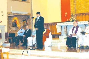 S. Skandakumar at the memorial service