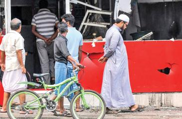 Ransacked Muslim business places