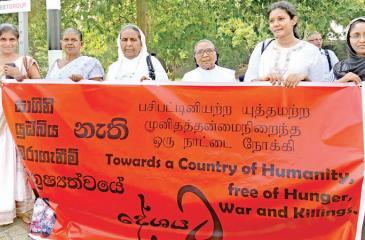 An anti terrorism rally in Colombo