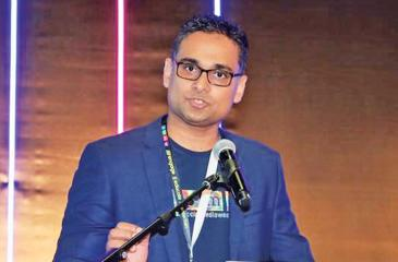Co-Founder and Managing Director of Mitra Innovation, Dammika Ganegama speaks at the Malaysia Social Media Week 2019 in Kuala Lumpur.