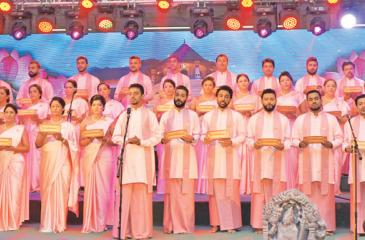 The recital of Bhakthi Gee in progress.