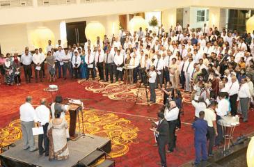 The representatives of the business community pledge for unity in Sri Lanka.