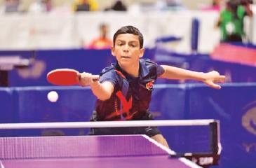 Senura Silva playing in the tournament in Bangkok