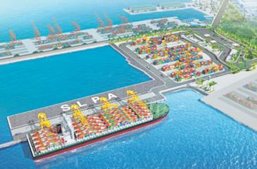 A model of the East Container Terminal. (Pic: Courtesy portcom.slpa.lk)