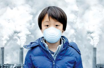 Coal burning power plants and factories produce unhealthy air pollutants