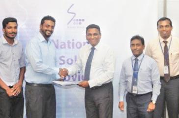After the signing of the MoU: Marketing Officer, SLT, Sameera Ekanayake, Project Engineer, Idieal Engineering, T. Purusoththaman, Site Engineer, Idieal Engineering, N. Kajamaran, Managing Director, Idieal Engineering, K. Selvapalan; CEO, SLT, Kiththi Perera, Chief Sales and Regional Officer, SLT, Imantha Wijekoon, General Manager, SLT, Chethana Attanayake, Legal Officer, SLT, Mrs. Shiromi Saputhanthri and Manager, SLT, Kelum Priyantha.