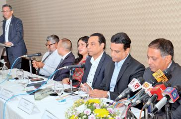 CIMC Founder Chairman Rohan Masakorala moderates the media briefing attended by industry experts. Pic: Wimal Karunatilleke