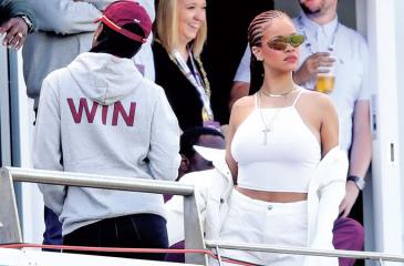 Rihanna was in Chester-le-Street for the Cricket World Cup