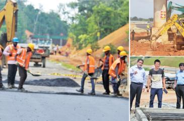 Chairman, Road Development Aurhority (RDA), Nihal Sooriarachchi visited section one (Godagama to Beliatta) of the Southern Expressway extension last week to see for himself if work was being carried out as usual.