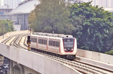LRT in Indonesia. Pic: Courtesy The Jakarta Post