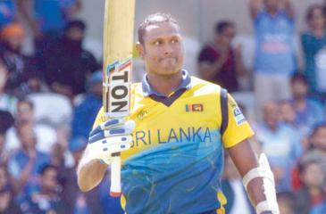 Angelo Mathews reacts after  scoring his century  (Pix: Kamal Jayamanne)
