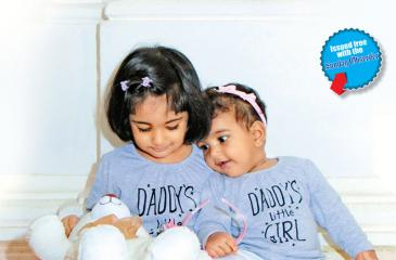 Daddy's cuddly little princesses!