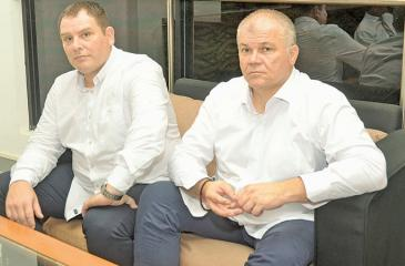 Matic Nedeljko (right) and Nenad Kraljevski the two handball coaches from Serbia who will be coaching the Sri Lankan teams (Pic: Vipula Amerasinghe)