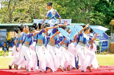 A cultural dance that will be part of the Mahaweli Games