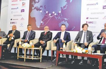 The logistics conference in progress